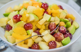 Bowl of Fruit Salad And Tangerine   by wuestenigel