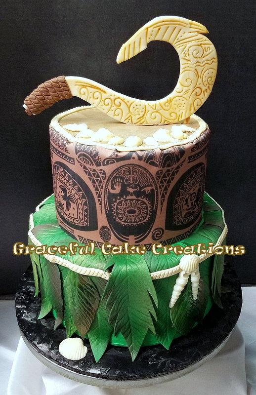 Moana themed Maui Birthday Cake | Grace Tari | Flickr