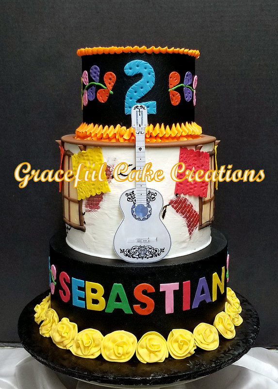 Wondrous Coco The Movie Themed Birthday Cake Grace Tari Flickr Funny Birthday Cards Online Alyptdamsfinfo