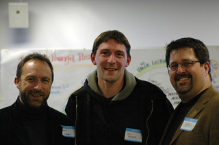 Jimmy Wales, me, and Chris Heuer | by Jeff Milner