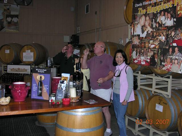 Wine tour 2007 tasting
