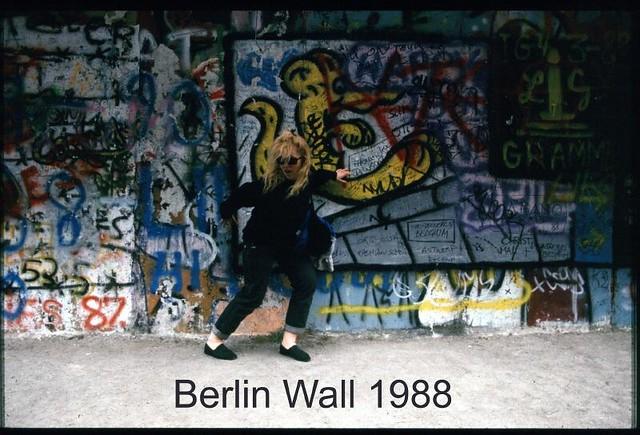 Karen at theBerlin Wall 1988