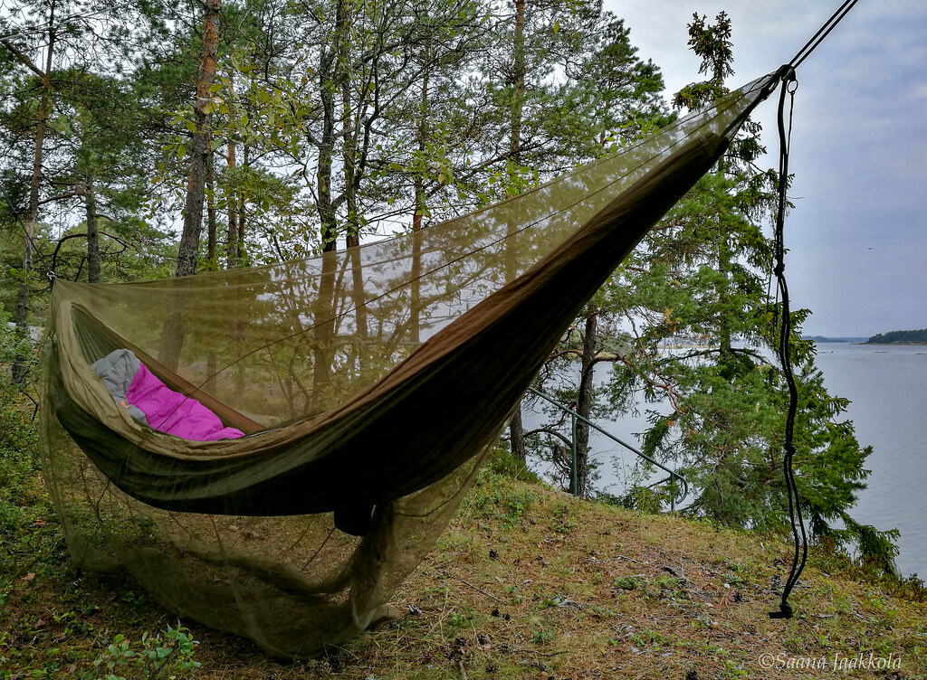 Hammock trip in a local forest in Rauma, Finland
