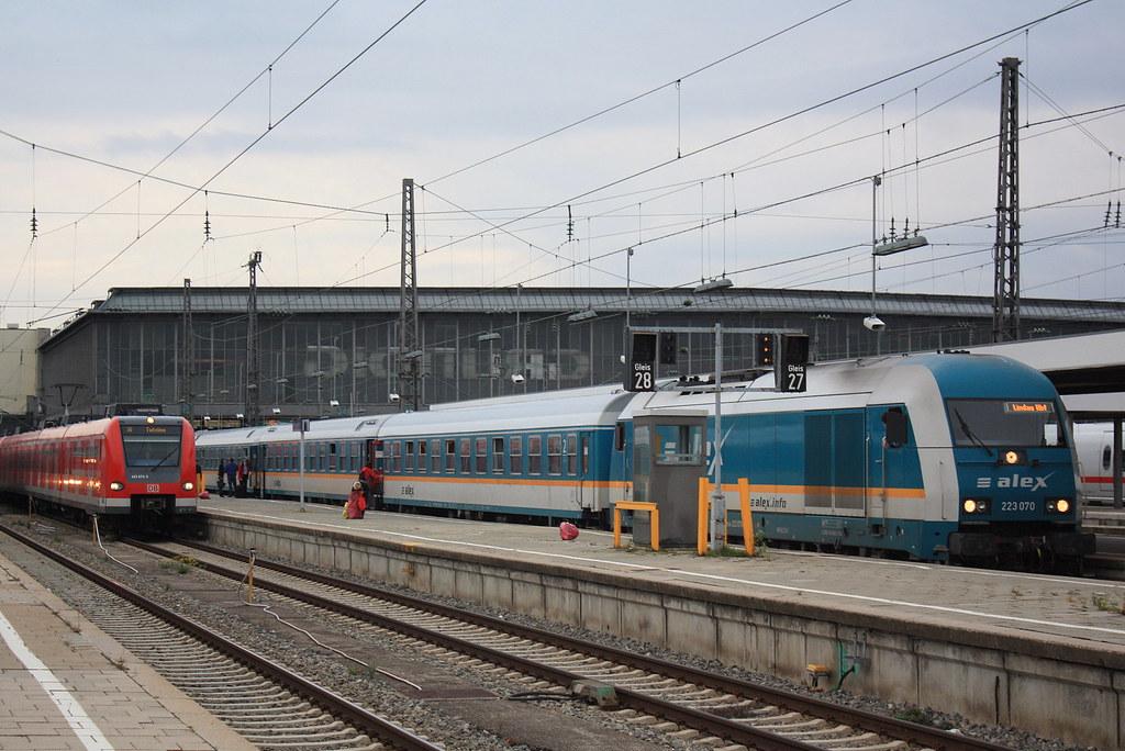 Die Länderbahn Gmbh Dlb 223 070 Mit Alex Süd Der Strecke