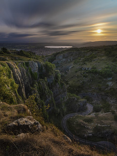Cheddar Gorge at Sunset