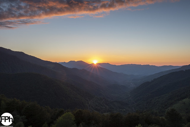 Vallée de Bethmale at sunset