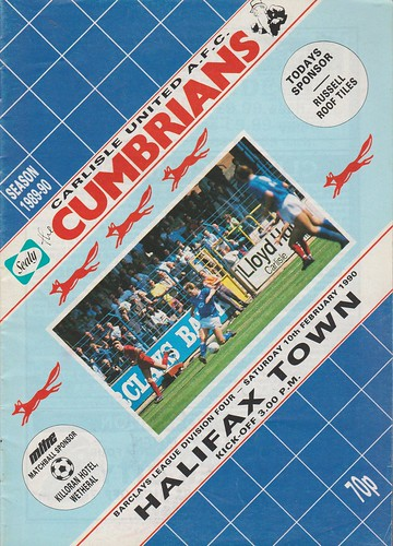 Carlisle United V Halifax Town 10-02-90 | by cumbriangroundhopper