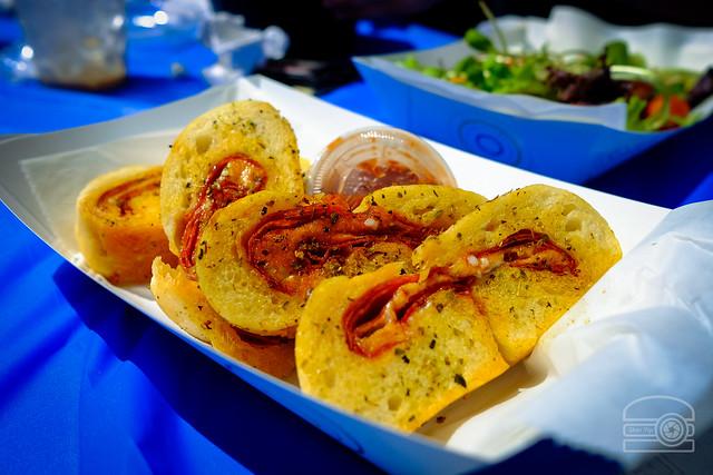 Grilled Pepperoni Bread - Italian Herbs, and Oliverio Spaghetti Sauce  - Wild Flour