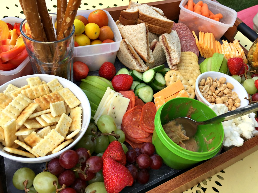 easy charcuterie board lunches