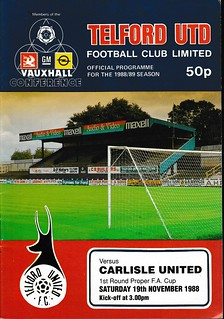 Telford United V Carlisle United 19-11-88 FA Cup   by cumbriangroundhopper