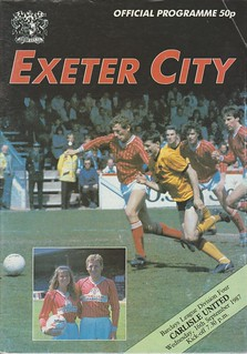 Exeter City V Carlisle United 16-9-87 | by cumbriangroundhopper