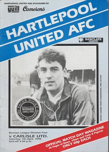 Hartlepool United V Carlisle Untied 7-4-90 | by cumbriangroundhopper