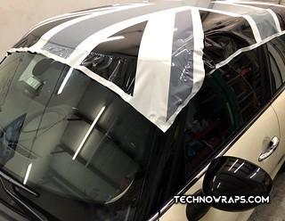 Union Jack Mini Car Roof Vinyl Wrap By Technowraps Com