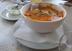 Teror comida gofio con caldo de pescado Islas Canarias 55