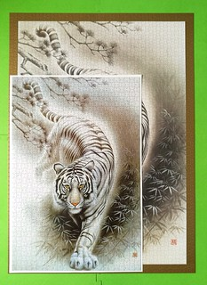 Big & Small - 3000 Epoch & 1000 Asnowrin - White Tiger   by Puzzabell