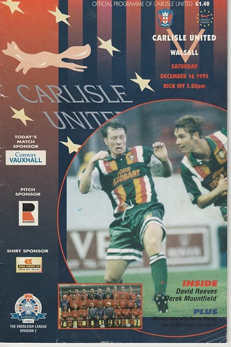 29.Carlisle V Walsall 16-12-95 | by cumbriangroundhopper