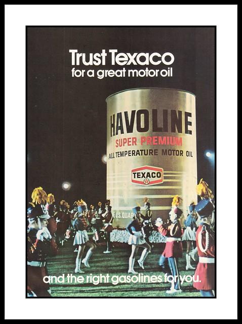 Texaco Motor Oil, 1972