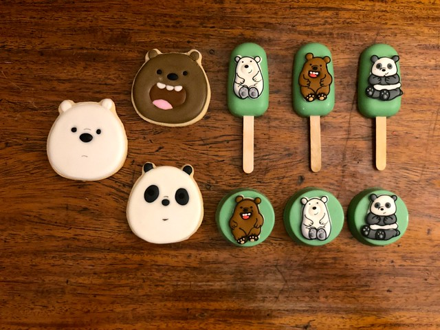 we bare bears cookies , cakesicles and oreopops
