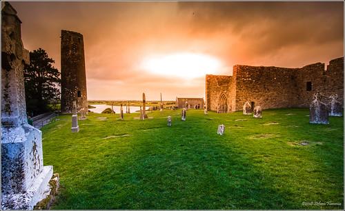 clonmacnoise ireland irlanda antico monastero rovine