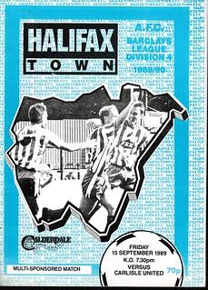 Halifax Town V Carlisle United 15-9-89 | by cumbriangroundhopper