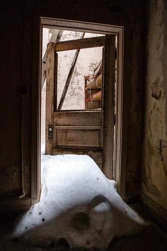 jwcooperhighschool jwcooperschool pa pennsylvania shenandoah shenandoahhighschool theoldschool decay door snow weather unitedstates us