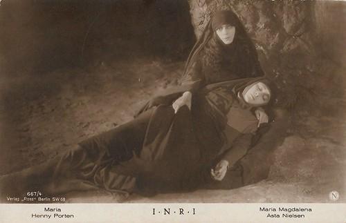 Henny Porten and Asta Nielsen in I.N.R.I. (1923)