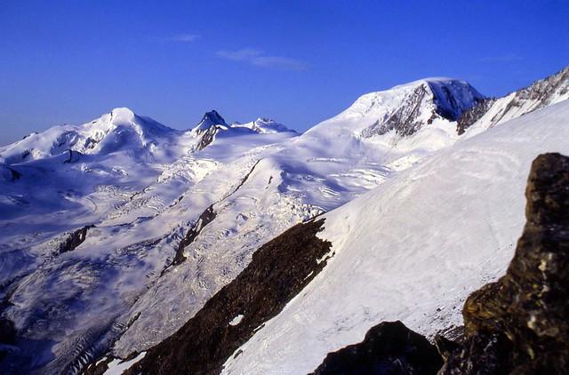 Estate 1992: alpinismo sulle Alpi Svizzere