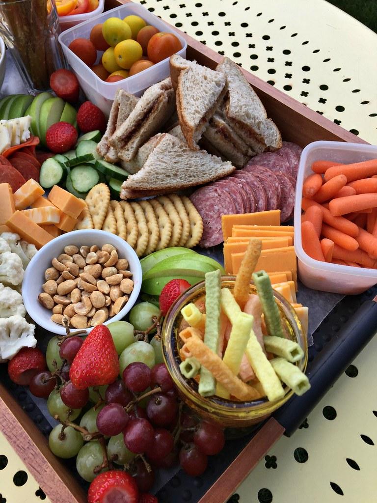 delicious charcuterie board lunch