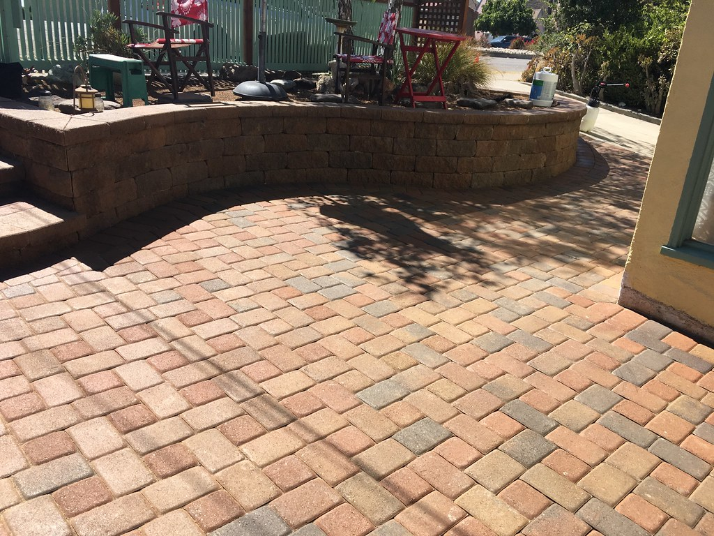 After sealing pavers (by landscaper) - perfection
