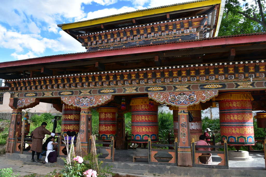 front view of Kyichu Lhakhang , one of the best temples in bhutan