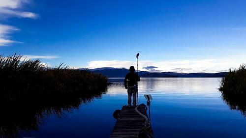 tota landscape colombia boyacá nature naturaleza lake lago blue sunrise clouds sky