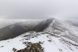 Snowy North Western Fells, Lake District National Park, Cumbria, UK