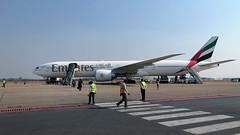 Emirates B777-31HER A6-EGV at LUN