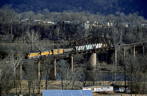 up b307a 246 railroad ge emd locomotive cotter train chuckzeiler chz swingbridge