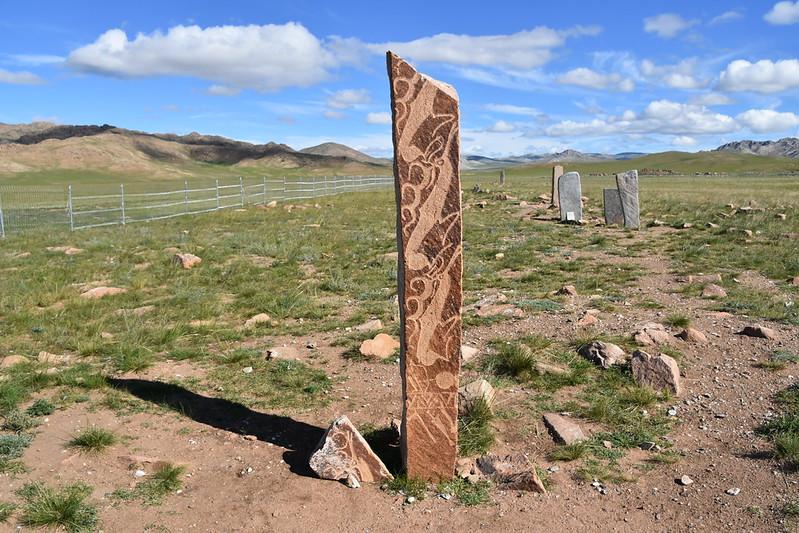 Deer stone, Bronze Age; Uushigiin Uveer, near Moron, northern Mongolia (35)