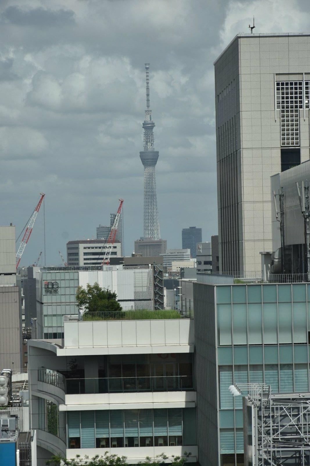 Ginza - Vue sur la Sky Tree Tower