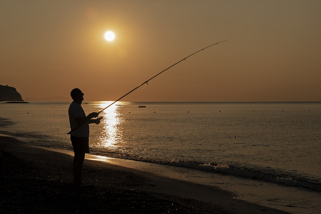 Fisherman at dawn (Pietra Ligure, Italy)
