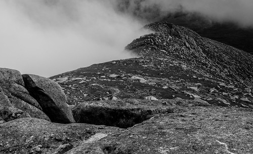 atmospheric argyllandbute arran blackandwhite clouds contrast climbing goatfell goatfellridge hillwalking heather hills isleofarran island landscape light mountains nature naturephotography outdoors open rocks ridge sonycameras scotland sonyphotographing sonya77 view weather height corbett