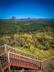 Glass House Mountains from Wild Horse Mountain Lookout
