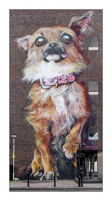 Street Art (Irony & Boe), East London, England.