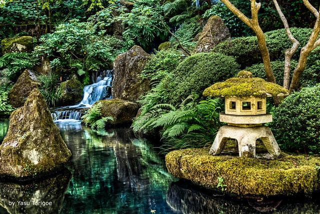 Stone Tōrō at Portland Japanese Garden, Portland OR USA-43a