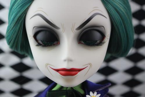 the Joker closed eyes