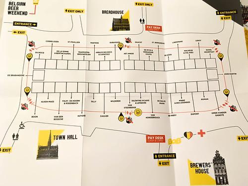 Mapa del Belgian Beer Weekend 2018 | by Erasmusenflandes