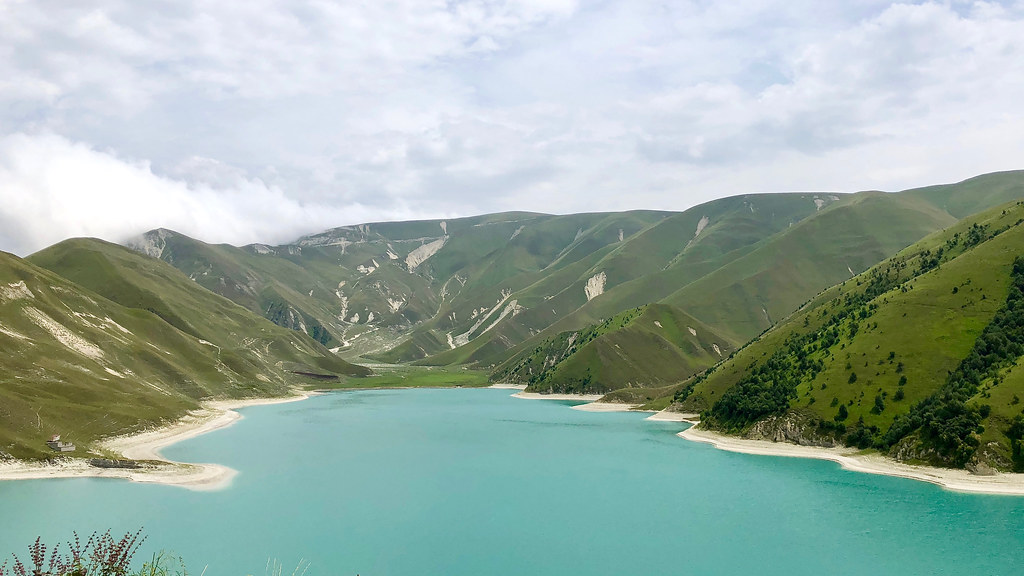 The Makazhoj region of Chechnya. Lake Kezenoyam