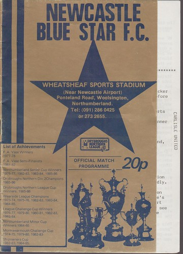 Newcastle Blue Star V Carlisle United 30-7-88 | by cumbriangroundhopper
