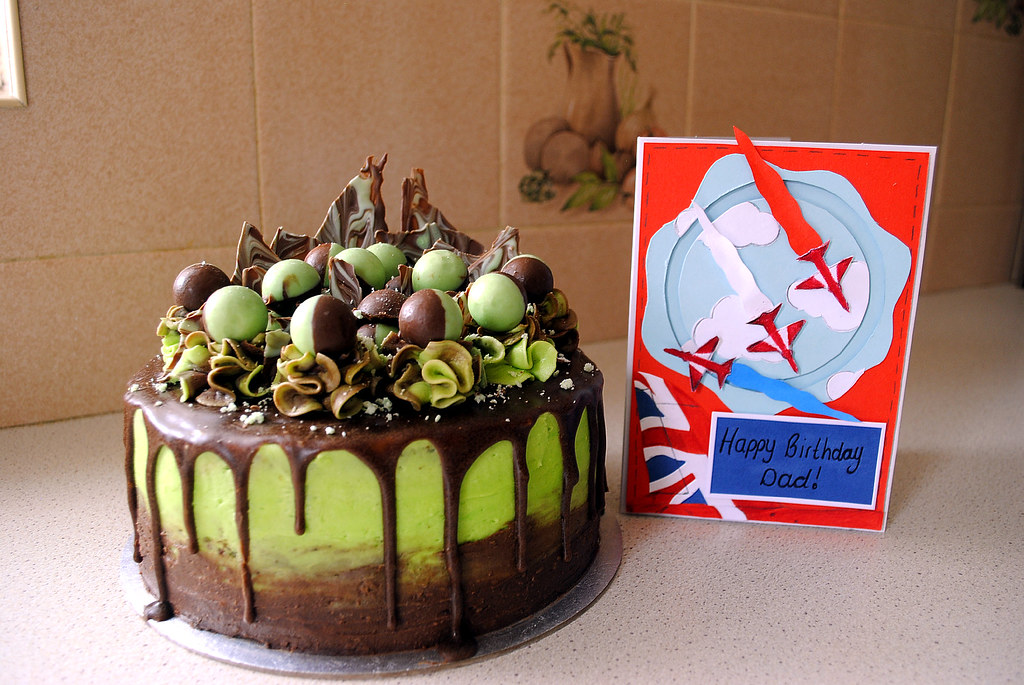 Strange Awesome Birthday Cake And Card Made By My Daughter Flickr Personalised Birthday Cards Veneteletsinfo