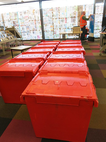 Packing up Central Library Peterborough