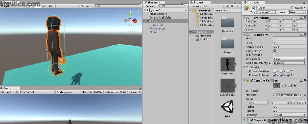 Unity Rotate Character In Direction