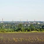 Die Kamine der Kokerei Zollverein sind von der Schurenbachhalde bei passenden Witterungsverhältnisseaus gut zu sehen