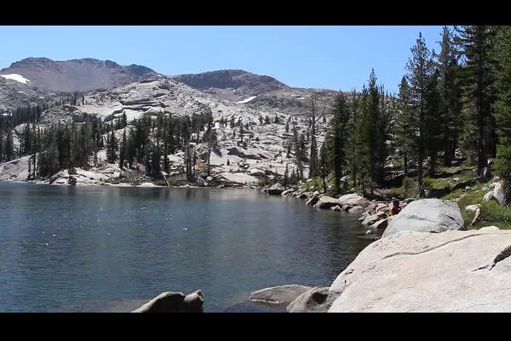 2071 Panorama video from the northern shore of Dicks Lake on the Pacific Crest Trail